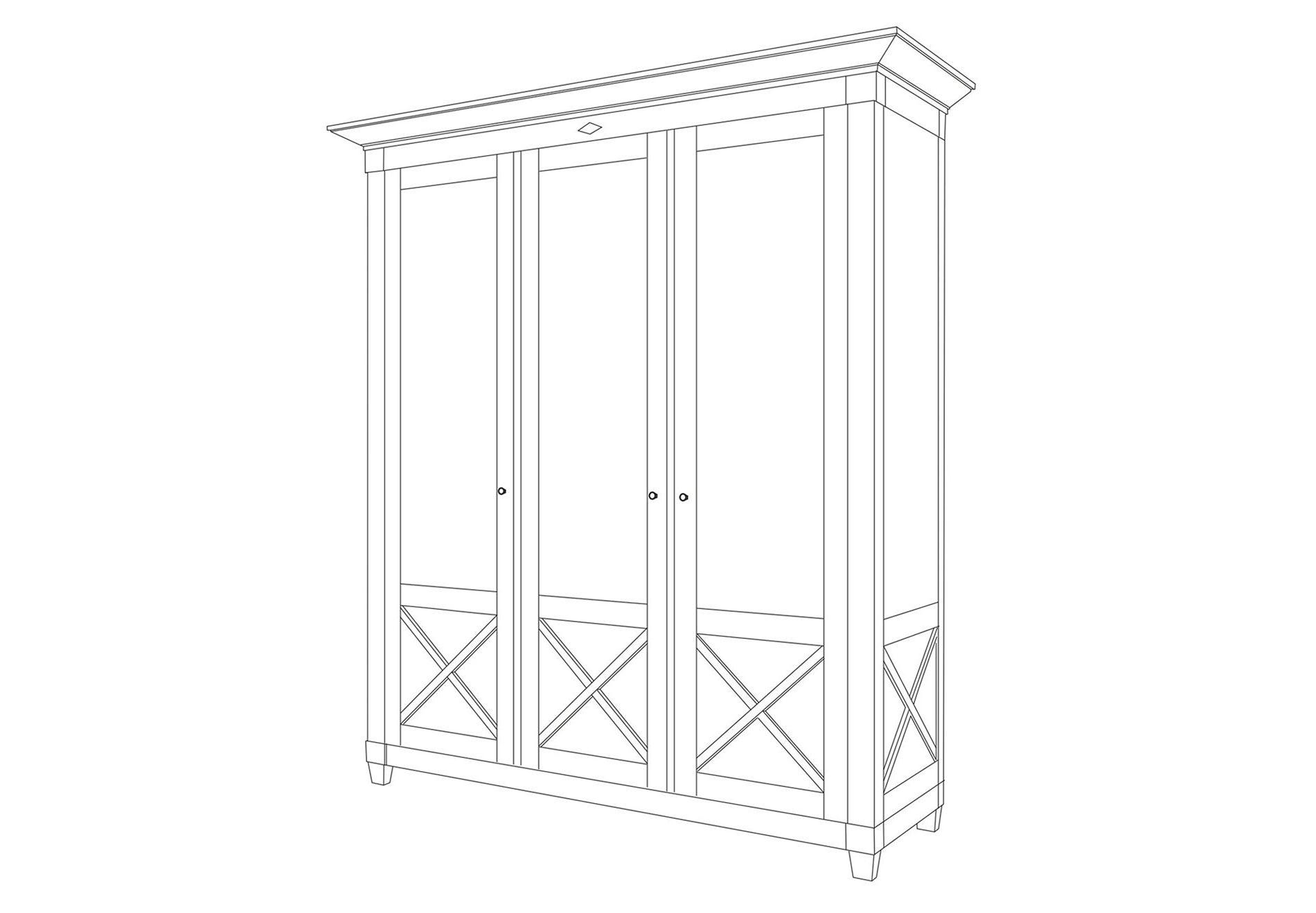 Шкаф трехстворчатый «Пьер»