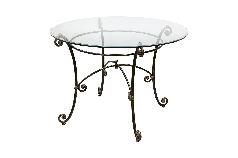 Стол круглый со стеклом  «Виктория»